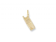9ct Gold lightweight mobile phone pendant 0.8g